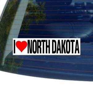 I Love Heart NORTH DAKOTA   Window Bumper Sticker