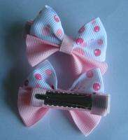 10 pairs of girls baby super cute hair bow clip