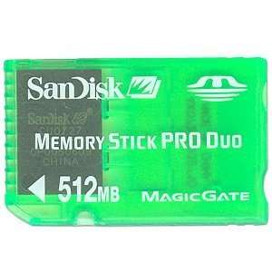 SanDisk Gaming 512MB Memory Stick PRO Duo Card (Green