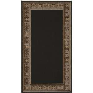 Safavieh Courtyard Collection CY5143G Black and Sand Indoor/ Outdoor