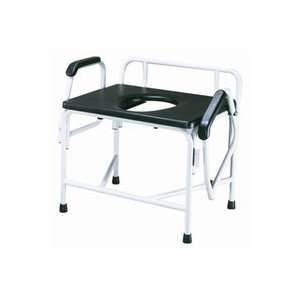 Extra Large Heavy Duty Drop Arm Commode   Weight Capacity 850 lbs