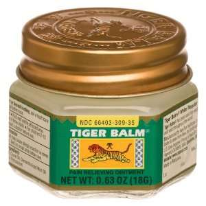 Tiger Balm Pain Relieving Ointment, Regular Strength, 0.63