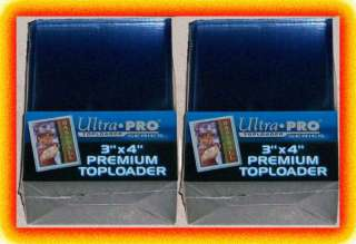 50 Ultra Pro PREMIUM Toploaders 3x4 NEW Card Sleeves 074427811457