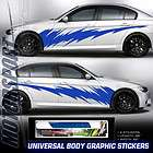 UNIVERSAL FIT BLUE LIGHTNING STYLE AUTO CAR RACING BODY GRAPHIC DECAL