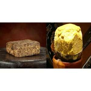 Raw Black soap & Shea Butter Combo 8oz. OF EACH Beauty