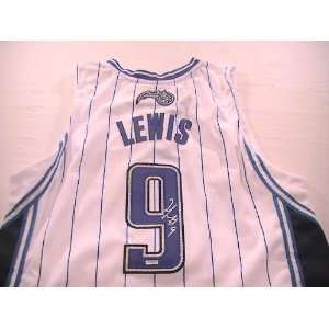RASHARD LEWIS SIGNED AUTOGRAPHED ORLANDO MAGIC JERSEY W/ HOLOGRAM