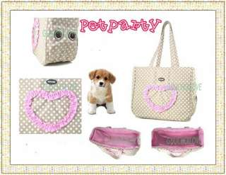Pet Dog Cat Carrier Tote Bag Handbag Adorable Fashion ★
