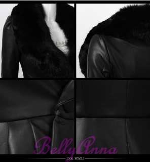 Collar Pleated Swing Skirt Trench Leather Princess Coat Jacket