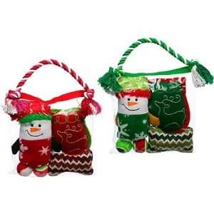 Holiday Rope Gift Bag Dog Toy