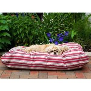 Pet Company Indoor Outdoor Jamison Red Striped Dog Bed