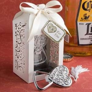 Packaged Heart Bottle Opener Wedding/Bridal Baby Shower Favors