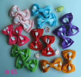 pairs 2.4 inch Girls Baby Toddle Infant Large dots Bow Clip for hair