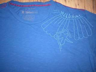 Brand New Tee T shirt Mens Navy Blue Embroidery Parachute Sky Dive XXL
