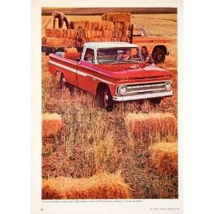 Pickup Utah Wheat Bales Farm Truck   Original Print Ad