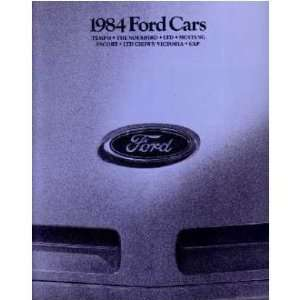 1984 FORD Sales Brochure Literature Book Piece Automotive
