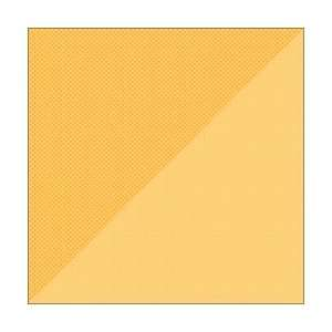 Double Sided Cardstock 12X12 Dot/Grid Tangerine; 25 Items/Order