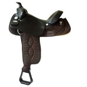 Horn Cordura & Leather Gaited Horse Trail Saddle