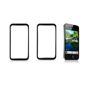 Gino Black Soft Plastic Frame Protector for Apple iPhone 4