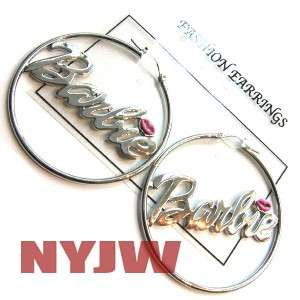 NEW HOT PLAIN RH NICKI MINAJ BARBIE HOOP EARRINGS