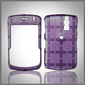 Black Pink on Purple Glitterati glitter bling case cover