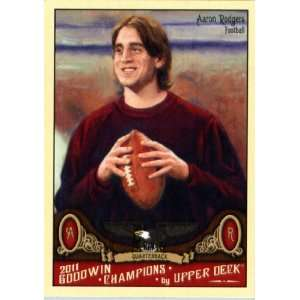2011 Upper Deck Goodwin Champions 80 Aaron Rodgers / Football Player