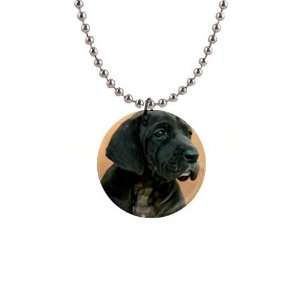 Neapolitan Mastiff Puppy Dog Button Necklace B0730