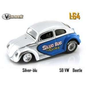 Jada Dub City VDubs Silver & Blue Slug Bug Racing 1959