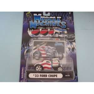 Coupe Stars n Stripes Muscle Machine With Hood Scoop Toys & Games