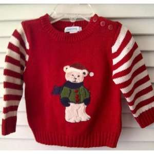 Greendog Baby Clothes Red Christmas Holiday Teddy Bear Long Sleeve