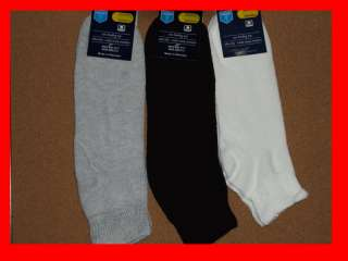 Diabetic Socks for Men Women 3 Pair Gray, Black, White 701953502541