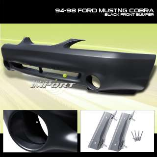 94 95 96 97 98 FORD MUSTANG/COBRA BLACK FRONT BUMPER COVER PP P.P NEW