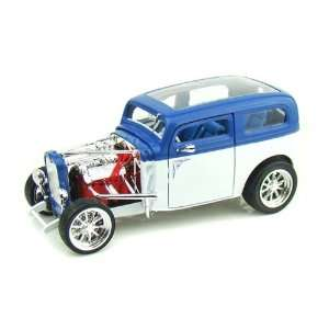 1931 Ford Model A Custom 1/18 Blue/White Toys & Games