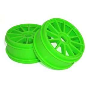 Racers Edge 1/8 Buggy 12 Spoke Wheels Green (2) RCEK8003G
