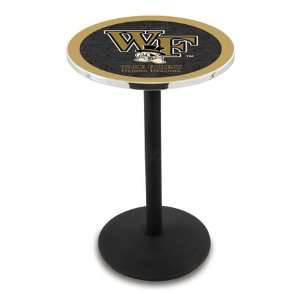 Wake Forest Counter Height Pub Table   Round Base