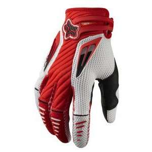 FOX PLATINUM MX/OFFROAD GLOVES RED/WHITE MD Automotive