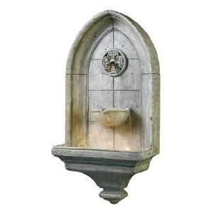 Kenroy Home 53265CT Canterbury Wall Fountain Cement Finish