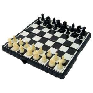 Pocket Chess Set   Mini magnetic, Black Plastic