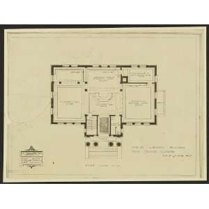 library building,floor plan,Blue Island,IL,c1902
