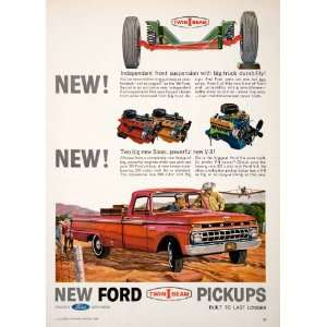 1965 Ad Ford Twin I Beam Pickup Truck Independent Suspension Aircraft