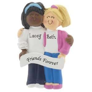 Personalized Friends Forever Christmas Ornament