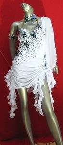 LATIN SALSA(BALLROOM) COMPETITION DRESS SIZE M(LT148A2)