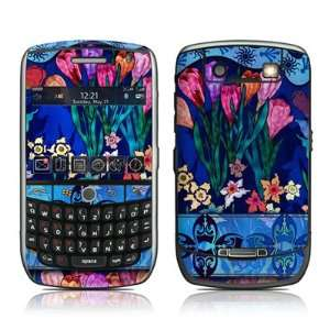 Silk Flowers Design Protective Decal Skin Sticker for Blackberry Curve