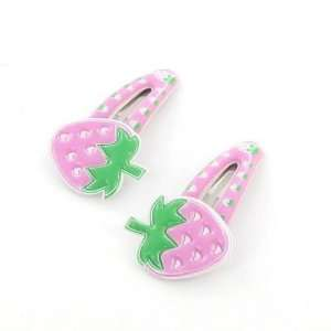 Toddler/Girl Cute Strawberry Design Hair Clip (6179 4) Toys & Games
