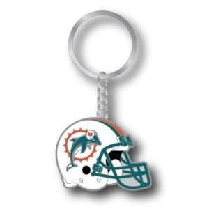 Miami Dolphins Metal Helmet Key Ring Aminco