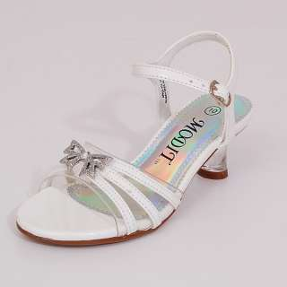 Girls Dress Shoes Easter Wedding Formal Toddler Sizes Butterfly White