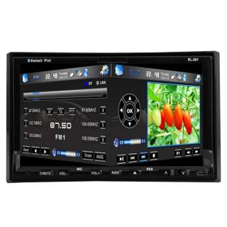 2011 USA 7 In Dash HD 2 Din Car Stereo DVD Player GPS Radio Ipod BT