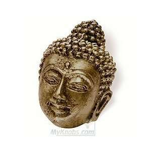 Siro cabinet hardware impala buddah knob in antique brass