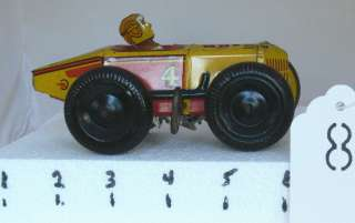 ANTIQUE 1950S MARX #4 WIND UP TIN LITHO RACE CAR RARE