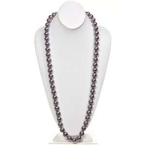 Fashion Jewelry ~ Light Purple Glass Pearl Necklace 54