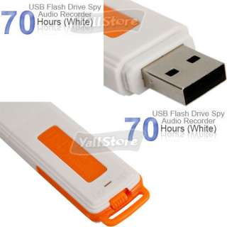 4GB USB Drive Digital Audio voice Recorder Pen 70 Hours Orange